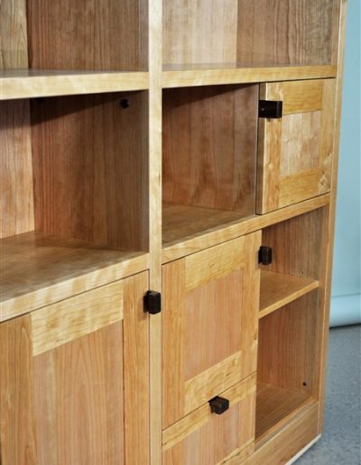 Orchard - bookcase wall unit -detail - custom furniture