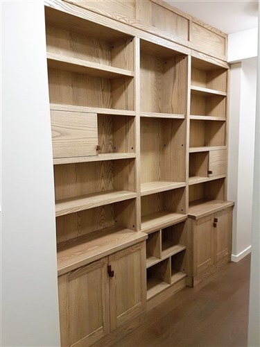 Wrage wall unit - custom cabinetry woodwork