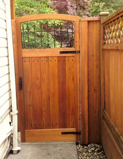 garden gate 2 - custom woodwork