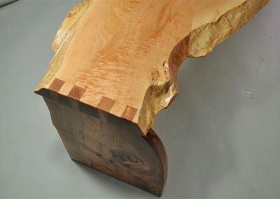offset bench detail- custom studio furniture