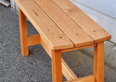sim hallway bench-end overview-custom furniture